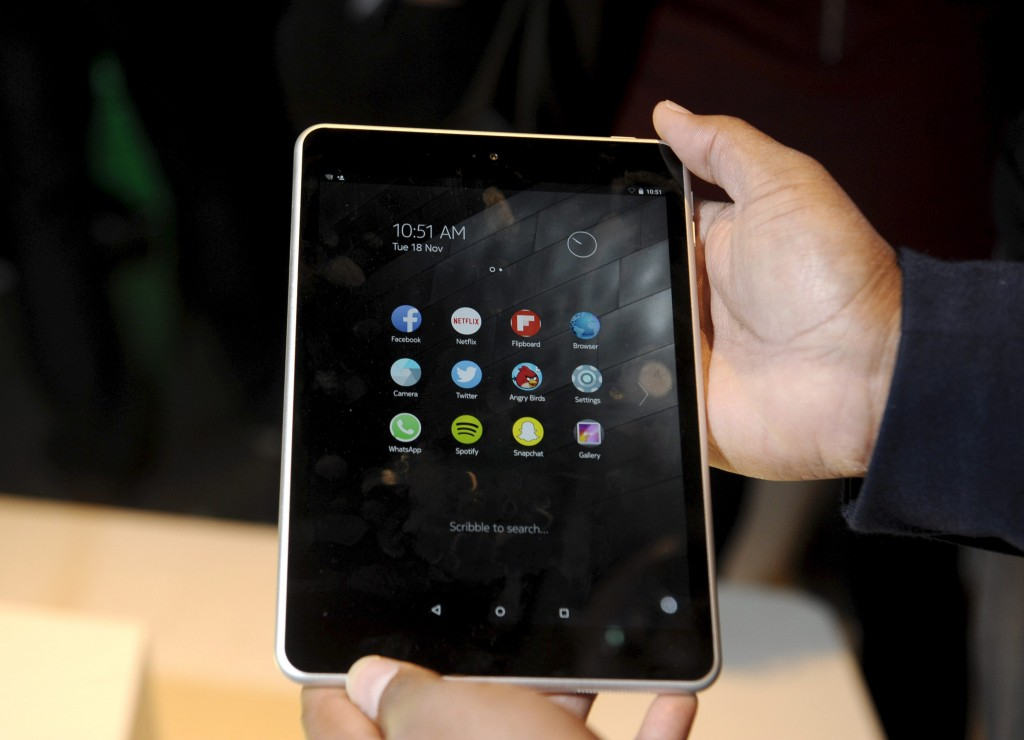 Nokia's new Android tablet N1 is seen at the Slush 2014 event in Helsinki