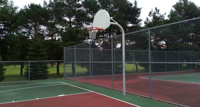 Баскетбольное кольцо снятое на камеру Elephone P8000