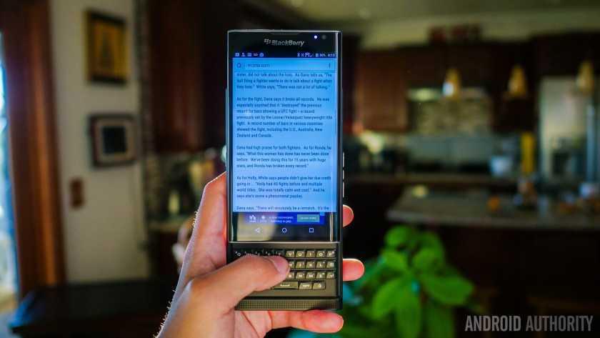 Обзор BlackBerry Priv 11